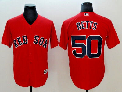 Mookie Bets #50 New Red Sox Flex Base| Cool Base MLB Jerseys (NWT)