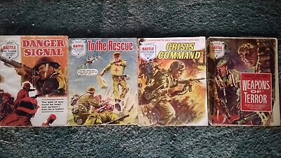 4 X Battle Picture Library Comics,war Comics,bulk Lot Collection,job Lot