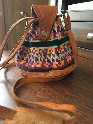 Unique Woven and Leather Bag Hand Made