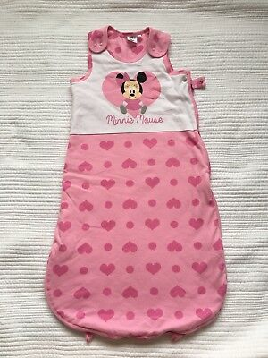 Baby Disney Minnie Mouse Sleeping Bag 3-6 Months 1.7 Tog