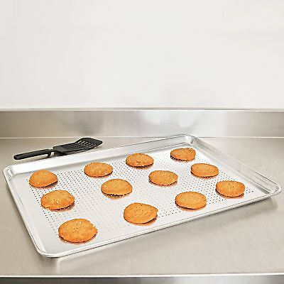 "12 Pack Commercial 18"" x 13"" Perforated Full Size Wire in Rim Aluminum Sheet Pan"