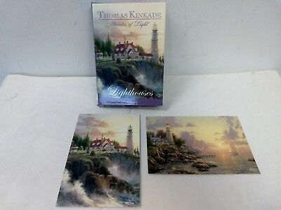 Boxed Note Cards Thomas Kincaid 2 Design Set Greeting Cards Lighthouses