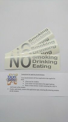 No Smoking, Drinking, Eating decals/stickers
