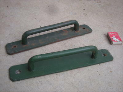 Vintage Pair Of DOOR Pull HANDLES, Long, Cast Iron, Steel - For Double Doors...