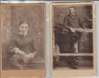 PHOTOS CDVs '' D CLARK warrnambool 1877 & J MANNING perth 1867 [james junior]