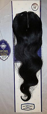 brazilian virgin hair_lace closure_14 inch_body wave_unprocessed_natural color