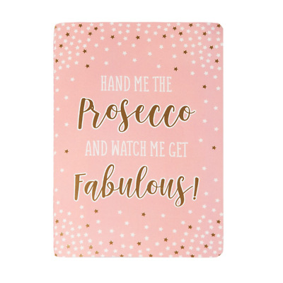 Fabulous Pink Prosecco Party A5 Notebook Rose Gold Stars Girl Cute Stationery