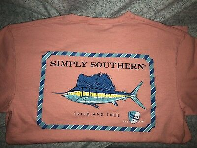 New Med Simply Southern Preppy Tried And True Marlin Fish SS Medium T Shirt