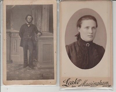 PHOTOS CDVs '' CORNOCK & CARDELL adelaide rare 1863 & LEAKE [LATE] MASSINGHAM