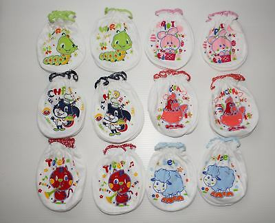 #F6 Wholesale Lot 24 Pcs/12 Pairs Cotton Mittens For Baby New Born