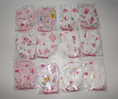 #F5 Small Wholesale 24 Pcs/12 Pairs Cotton Mittens For Baby New Born