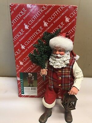 Possible Dreams Clothtique Country Christmas Santa