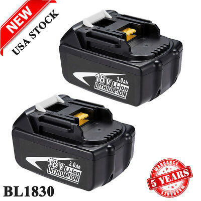 2X NEW 18V LITHIUM ION BATTERY LXT FOR MAKITA BL1860 BL1830 BL1845 BL1835 3.0Ah