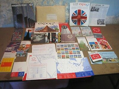1967 Montreal Expo 30 + Pcs.  Complete Promo Pack Canadian Travel Bureau Maps