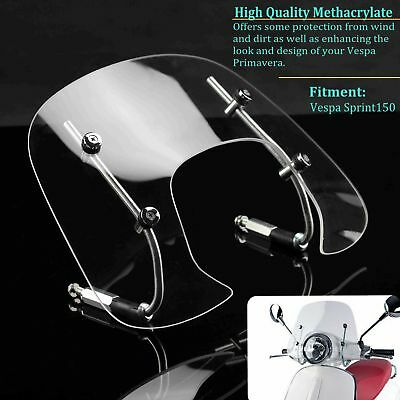 Motorcycle Scooter Fly Screen Windshield Clear Wind Screen For Vespa Sprint 150