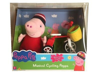 Peppa Pig Peppa's Musical Cycling Motorised Tricycle & Soft Plush Toy Playset