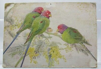 Victorian Calling Card Happy Lovebirds by A.L. West Raphael Tuck and Sons