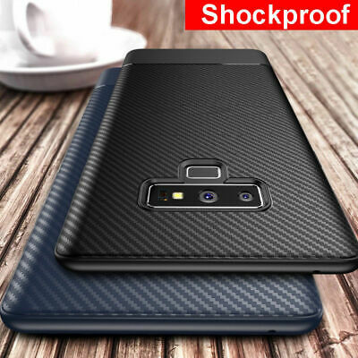 For Samsung Galaxy Note 9 S9 S8 S10 Carbon Fiber Shockproof Soft Slim Case Cover