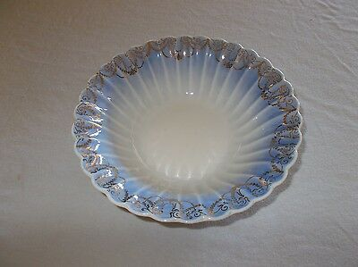Beautiful Trojan by Sebring USA made 22k gold edge coronation Duchess blue bowl