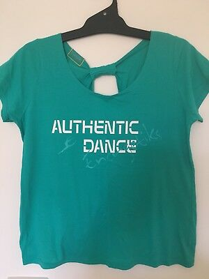 Green ENERGETIKS Authentic Dance Top - Size L - FREE Postage