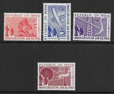 INDIA 1950 Inauguration of the Republic Set Mint Never Hinged (Aug 015)