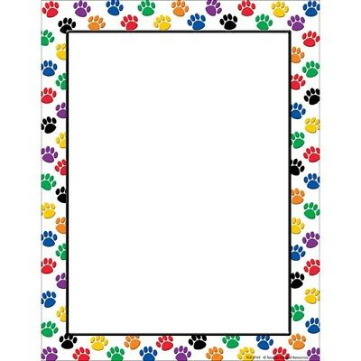 Colorful Paw Prints Computer Paper by Teacher Created Resources  - Colorful Paw