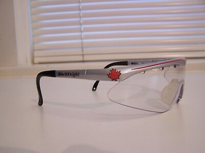 BLACK KNIGHT Wrap Around Silver Colored Vintage Racquet Sports Eyewear