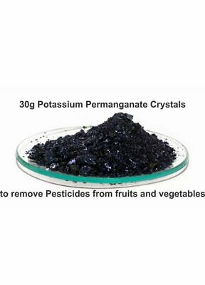 new! 30 grams of potassium permanganate to eliminate pesticides from fruits