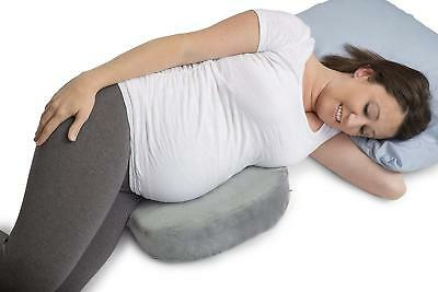 Pregnancy Pillow Maternity Belly Support Contoured Comfort Wedge Pillows Gray HQ