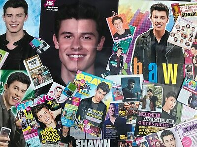 SHAWN MENDES SAMMLUNG 40+ Clippings LOT POSTER 2015-18 RARE&SEXY