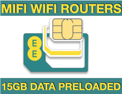 Official Trio EE 10GB 4G Broadband data Sim Card, Preloaded with 10GB Data