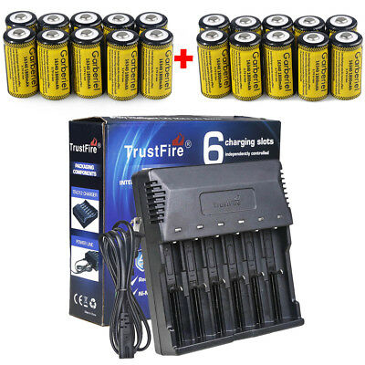 Lot 1800mAh CR123A 16340 Battery 3.7V Li-ion Rechargeable Batteries for Camera
