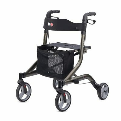 Capero Lightweight Walker Rollator Foldable German Design Aluminum with seat new