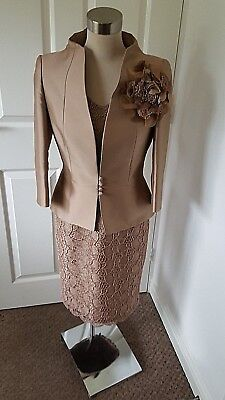 CARLA RUIZ Mother of the Bride Outfit  - Size 10 Gold