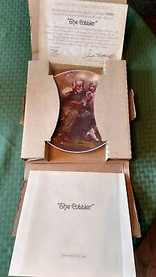 "Norman Rockwell :The Cobbler"" collectible plate"