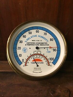 Vintage Abbeon-Lufft Htab-176 Hygrometer Temperature Indicator West Germany