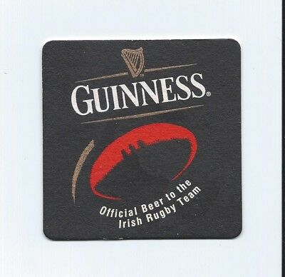 """Sous-bock bistrot bière Guinness """"Irish Rugby Team"""", Powersports."""
