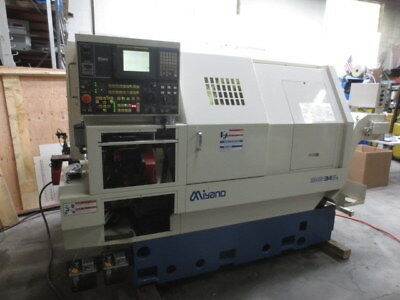 Miyano BNE-34S3 CNC Lathe, Live Tools, Sub Spindle, Collet Chucks, Parts Catcher