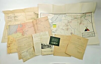 WWII 5th Armored Division Maps and Papers