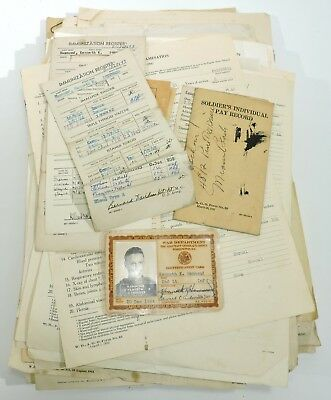 WWII US 35th Infantry Soldier's Papers & Letters