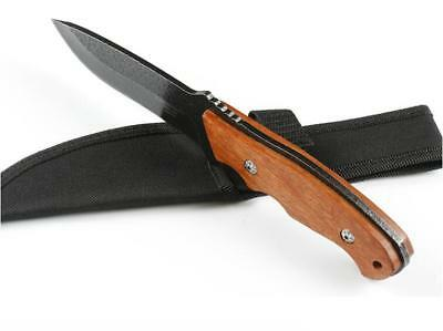 9'' New 440C Blade Rosewood Handle oxford scabbard Survival Hunting Knife -ZL111