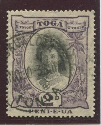 "TONGA - SG. 57 ( e ) :  1932 ""  2d. BLACK  and  BLACKISH  VIOLET  "" ."
