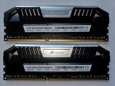 CORSAIR Vengeance PRO 16GB (2x8GB) Black DDR3 15000 ✅CL9 1866 CMY16GX3M2A1866C9