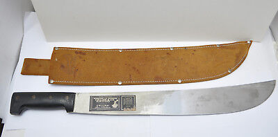 Vintage WWII Busquese La Estampa Collins & Co Machete in a Sheath