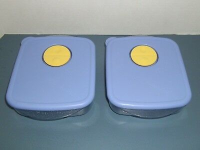 (2) Tupperware Rock-N-Serve Micowave Containers # 3385A with Vented Lids # 3386A