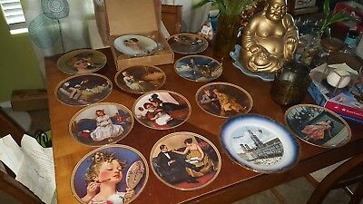 Norman Rockwell Plates Lot Of 11 / kunst-palette / rockford edition