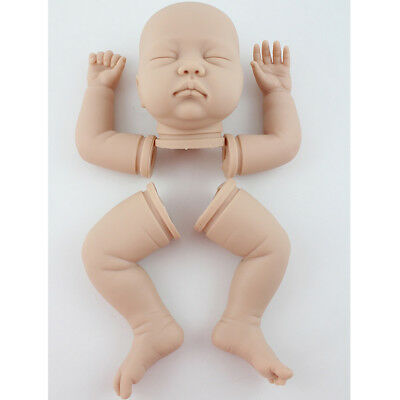"Real Touch Silikon 22 ""Reborn Kits schlafen Baby Puppe leere Kopf Glied Form"