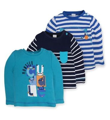 PREMATURE BOYS 3 PACK L/S TOPS T-SHIRTS SMALL BABY UPTO 7.5lbs (3.4kg) BRAND NEW