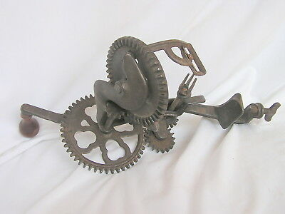 Antique Cast Iron Goodell Apple Peeler Turntable '98 Patent May 1898