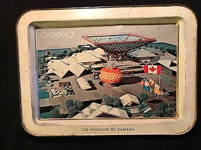 Expo '67 Metal Tray Le Pavilion Du Canada  The Pavilion Of Canada